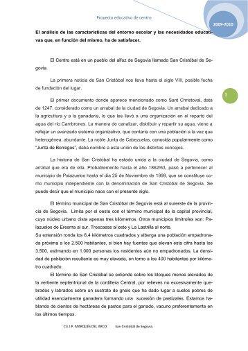 Proyecto educativo de centro - CEIP MARQUÉS DEL ARCO - Junta ...