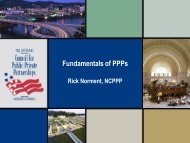 Fundamentals of PPPs - The National Council for Public-Private ...