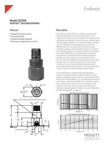 Model 5220A Isotron® accelerometer - Endevco