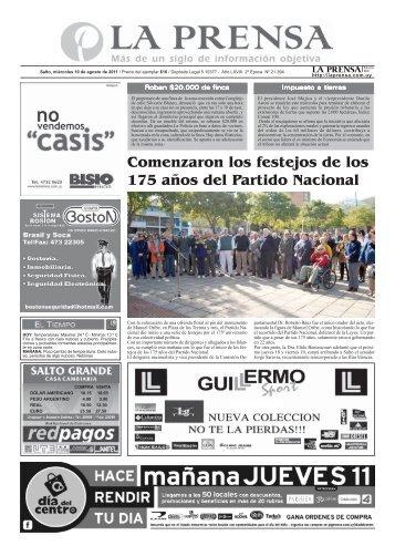 La Prensa Portada jueves 16 de junio 2011 - La Prensa | Edición Web