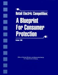 Retail Electric Competition - U.S. Department of Energy