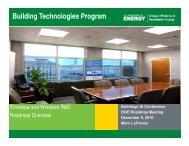 Building Technologies Program - Energetics Meetings and Events