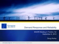 Demand Response and Reliability - Energetics Meetings and Events