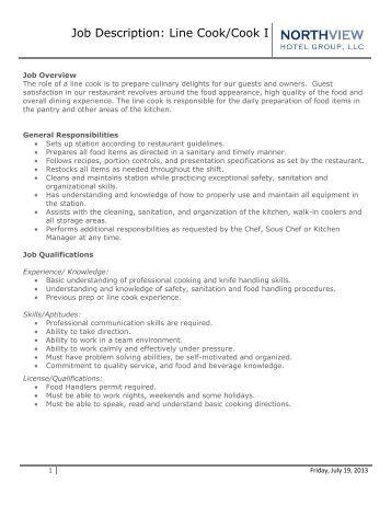 utility cook job description. kitchen assistant job description ...
