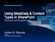 Using Metada and Content Types in SharePoint