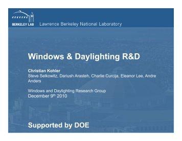 Windows & Daylighting R&D
