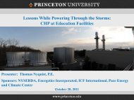 Thomas Nyquist, P.E., Director of Facilities Engineering, Princeton ...