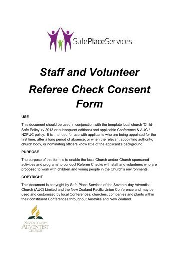 Criminal Record Check Consent Form For Employees - North Island