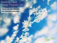 Tracking Clean Energy Progress 2013 Presentation