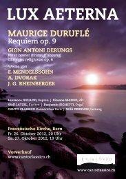 Flyer - Gion Antoni Derungs