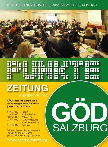 PUNKTE Mai 2010 - GÖD - Landesvorstand Salzburg