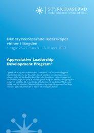 Appreciative Leadership Development Program - Styrkebaserad