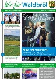 Kultur- und Musikfestival - Stadt Waldbröl