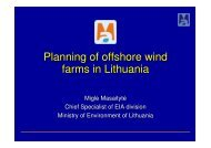 Planning of offshore wind farms in Lithuania - Marine Protected ...