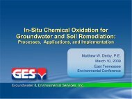 In-Situ Chemical Oxidation for Groundwater and Soil Remediation ...