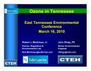 Ozone in Tennessee - TN Environmental Conference