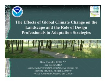 The Effects of Global Climate Change on the Landscape and the ...