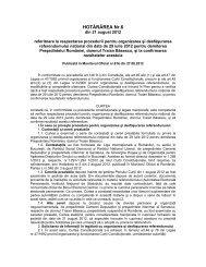 HOTĂRÂREA Nr.6 - Curtea Constituţională a României