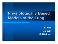 Physiologically Based Models of the Lung