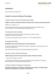 publications - Computational Physiology - Freie Universität Berlin