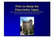 Prise en charge des Pancréatites Aigues