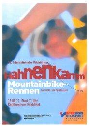Ausschreibung 23. Hahnenkamm MTB-Rennen am 15. August 2011