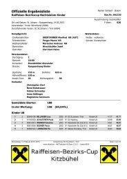 Offizielle Ergebnisliste - Kitzbüheler Ski Club