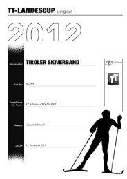 Ergebnisliste TT LC Pertisau 11.12.2011 - Tiroler Skiverband ...