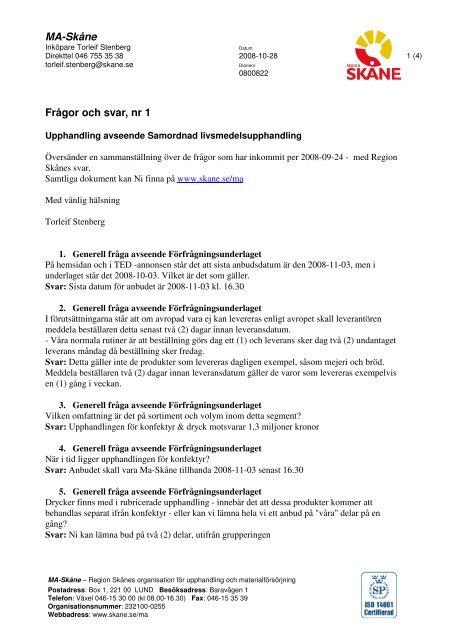 Fragor och svar 2003 03 30