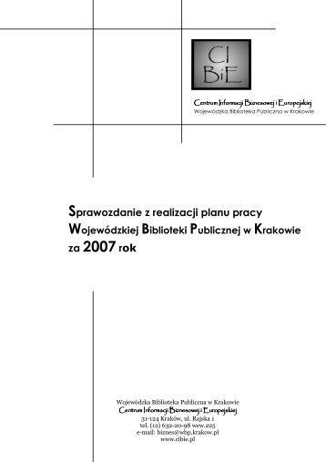 za 2007 rok - Centrum Informacji Biznesowej i Europejskiej
