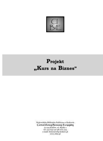 """Projekt """"Kurs na Biznes"""" - Centrum Informacji Biznesowej i ..."""