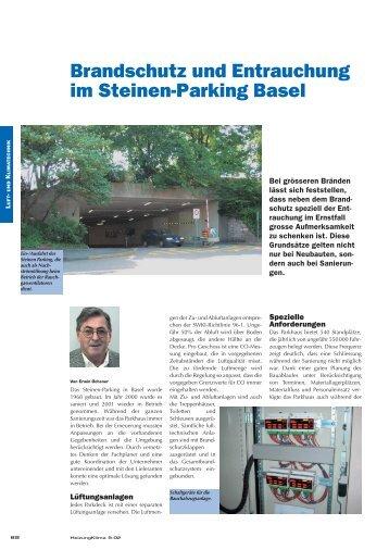 Brandschutz und Entrauchung im Steinen-Parking Basel - Belimo