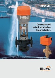 NEWS VA-2 Conversion and retrofit with Belimo linear actuators
