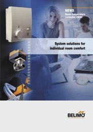 System solutions for individual room comfort NEWS - Belimo