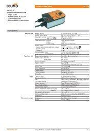 Technical data sheet BLE24 - Belimo