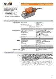 Fiche technique Servomoteur de clapet LM24A