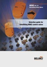 Selection guide for retrofitting HVAC control valves - Belimo