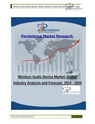 Wireless Audio Device Market: Global Industry Analysis and Forecast, 2014 - 2020