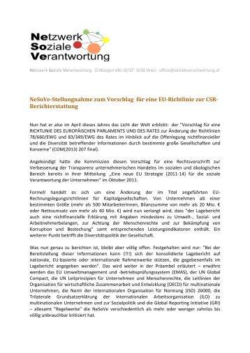 deutsch - Netzwerk Soziale Verantwortung