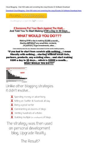 Cloud Blogging - Over 500 sales and converting like crazy Ebooks ...