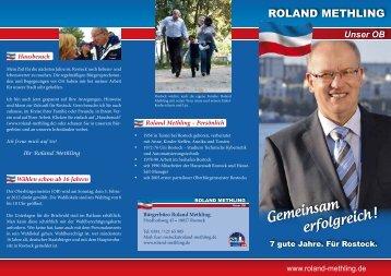 Wahlprogramm - Roland Methling