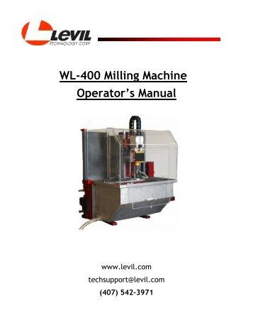WL-400 Milling Machine… Operator's Manual