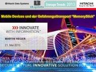 Mobile Devices und der Gefahrenguttransport ... - Storage Trends