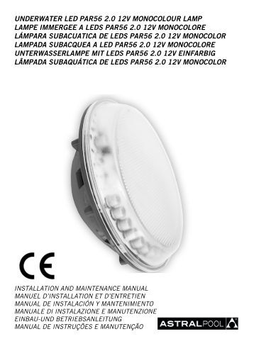 UNDERWATER LED PAR56 2.0 12V MONOCOLOUR LAMP ...
