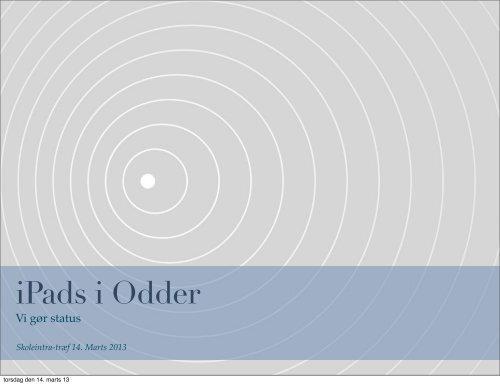 iPads i Odder - SkoleIntra