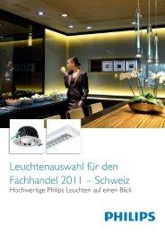 Leuchtenauswahl für den Fachhandel 2011 – Schweiz