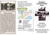 Folder om Lokalhistorisk Arkiv for Graasten By og Egn