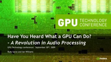 Have You Heard What a GPU Can Do? - A Revolution in Audio ...