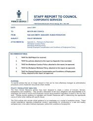 Policy Revisions - City of Prince George