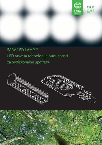 FARA LED LAMP ® LED rasveta tehnologija budućnosti za - MK trade